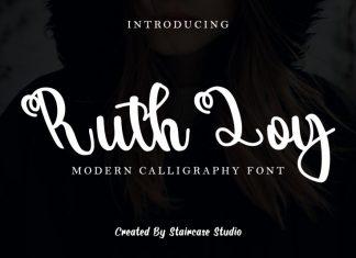 Ruth Loy Script Font