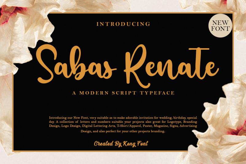 Sabas Renate Script Font