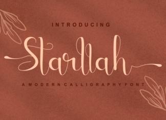 Starllah Calligraphy Font