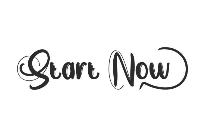 Start Now Script Font