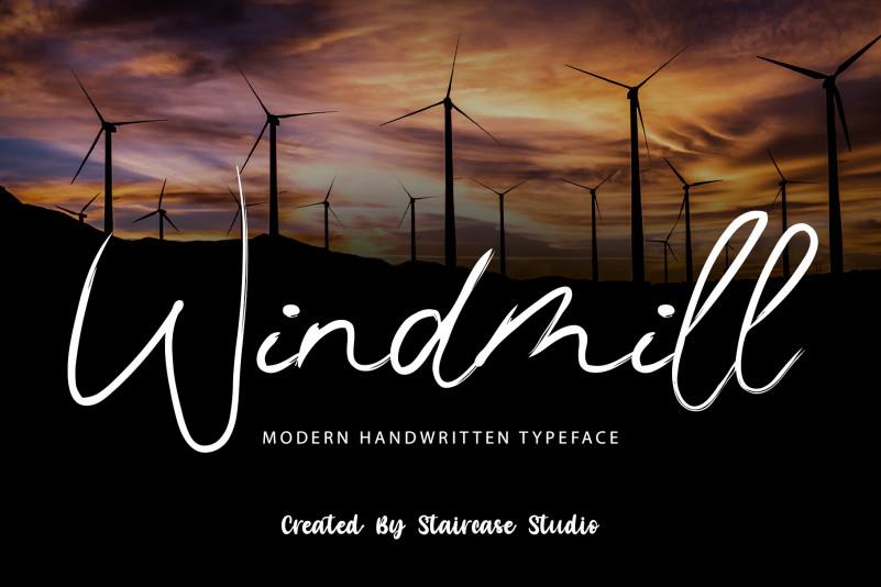 Windmill Script Font