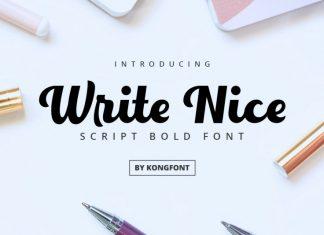 Write Nice Calligraphy Font