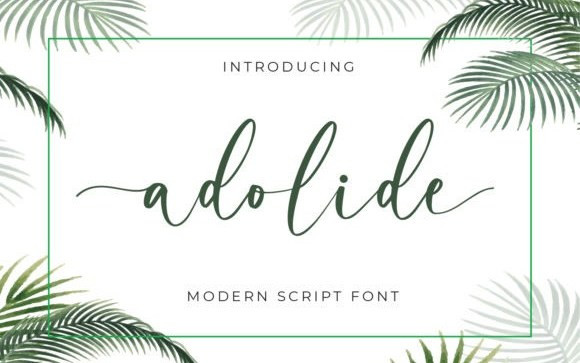 Adolide Calligraphy Font