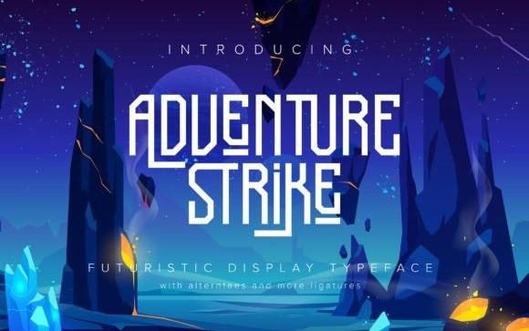 Adventure Strike Display Font