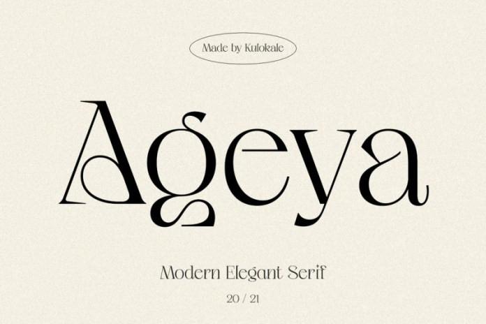Ageya Serif Font