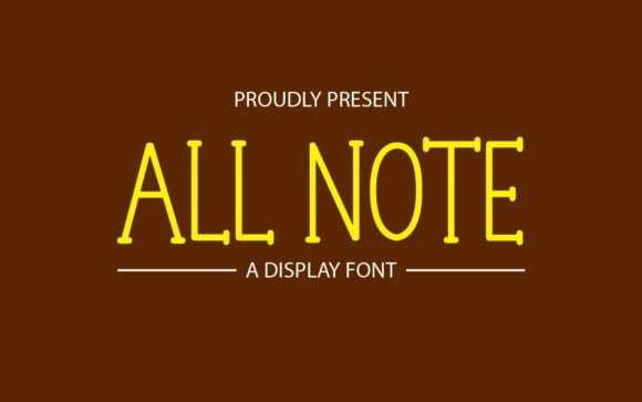 All Note Display Font