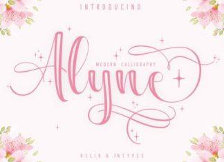 Alyne Calligraphy Font