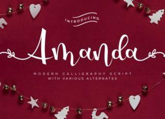 Amanda Script typeface