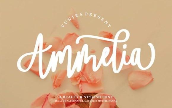 Ammelia Handwritten Font