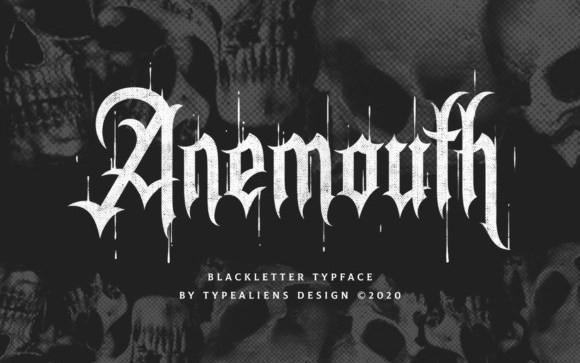 Anemouth Blackletter Font