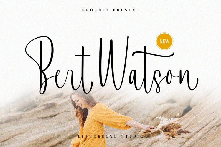 Bert Watson Script Font