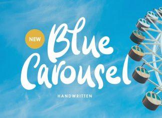 Blue Carousel Brush Font