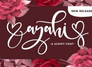 Ayahi Calligraphy Font
