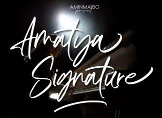 Amatya Signature Script Font