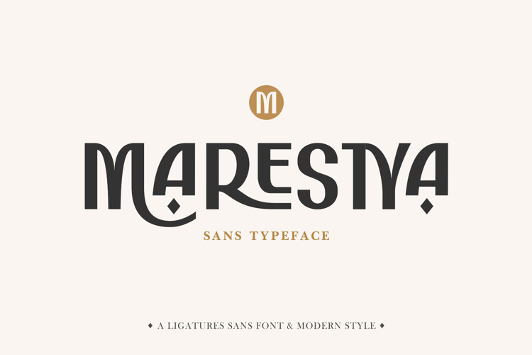 Marestya Sans Serif Font
