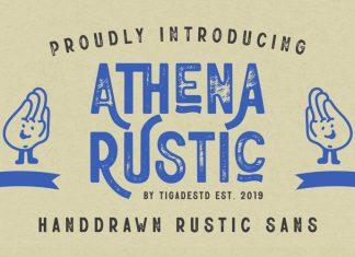 Athena Rustic Display Font