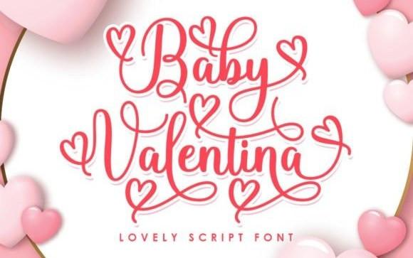 Baby Valentina Calligraphy Font
