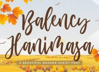 Balency Hanimasa Script Font
