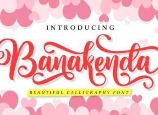 Banakenda Script Font