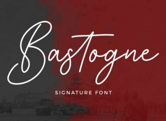 Bastogne Script Font