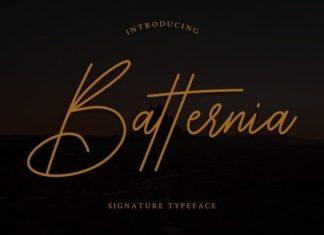 Batternia Handwritten Font