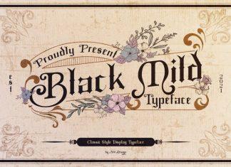 Black Mild Blackletter Font