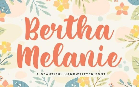 Bertha Melanie Script Font