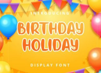 Birthday Holiday Display Font