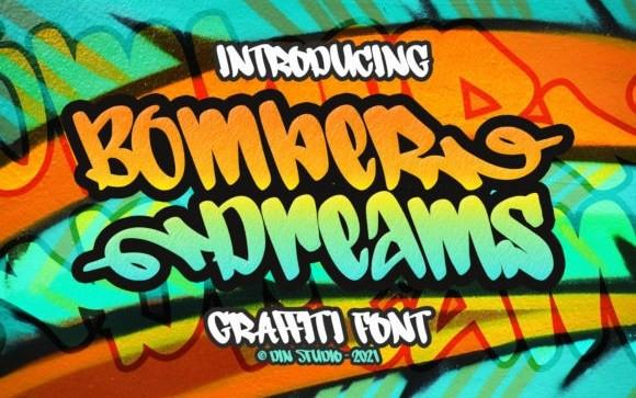Bomber Dreams Brush Font