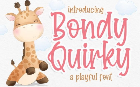 Bondy Quirky Display Font