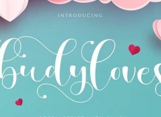 Budyloves Calligraphy Font