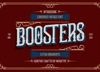 Boosters Blackletter Font