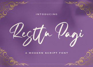 Resttu Pagi Script Font