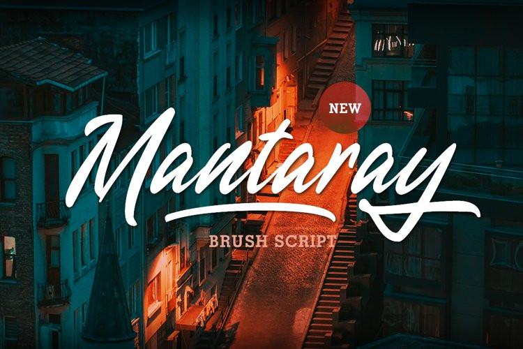 Mantaray Script Font