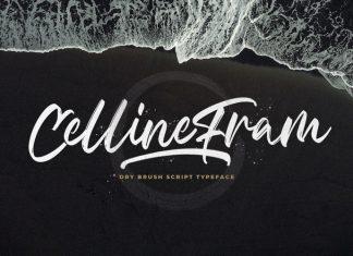 Celline Fram Brush Font
