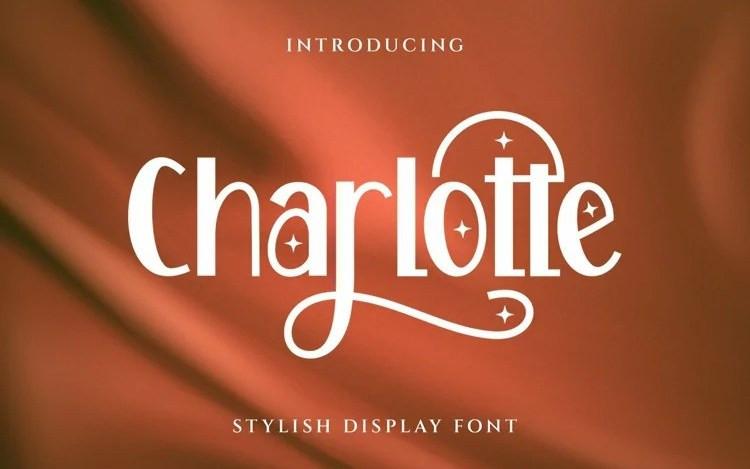Carlotte Display Font