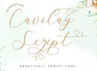 Cavilay Calligraphy Font