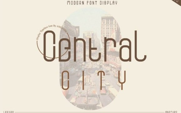 Central City Display Font