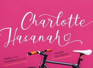 Charlotte Hasanah Calligraphy Font