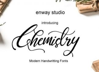 Chemistry Calligraphy Font