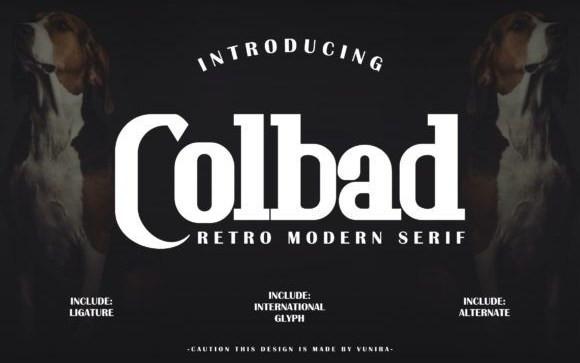 Colbad Slab Serif Font