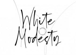 White Modesty Handwritten Font