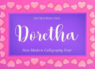 Doretha Calligraphy Font