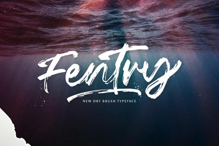 Fentry Brush Font