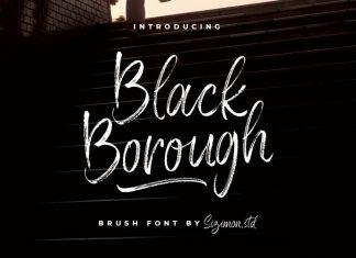 Black Borough Brush Font