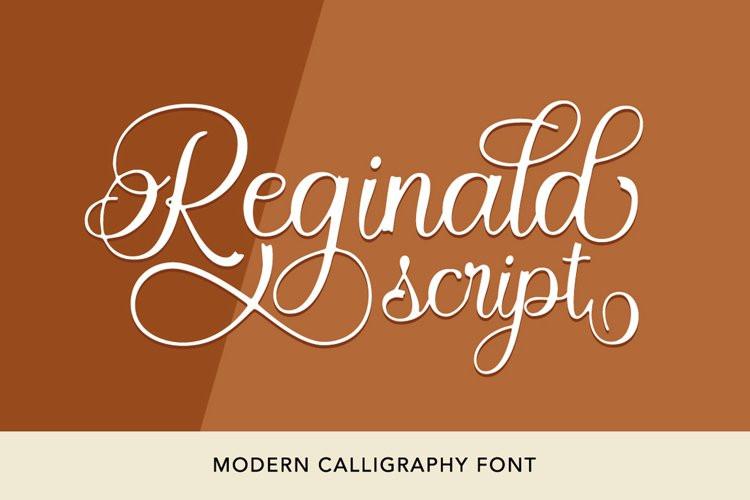 Reginald Calligraphy Font
