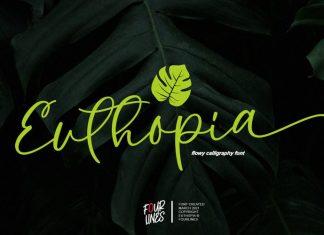 Euthopia Calligraphy Font