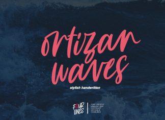 Ortizan Waves Brush Font
