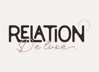 Relation De Luxe Font