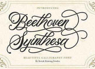 Beethoven Syinthesa Calligraphy Font
